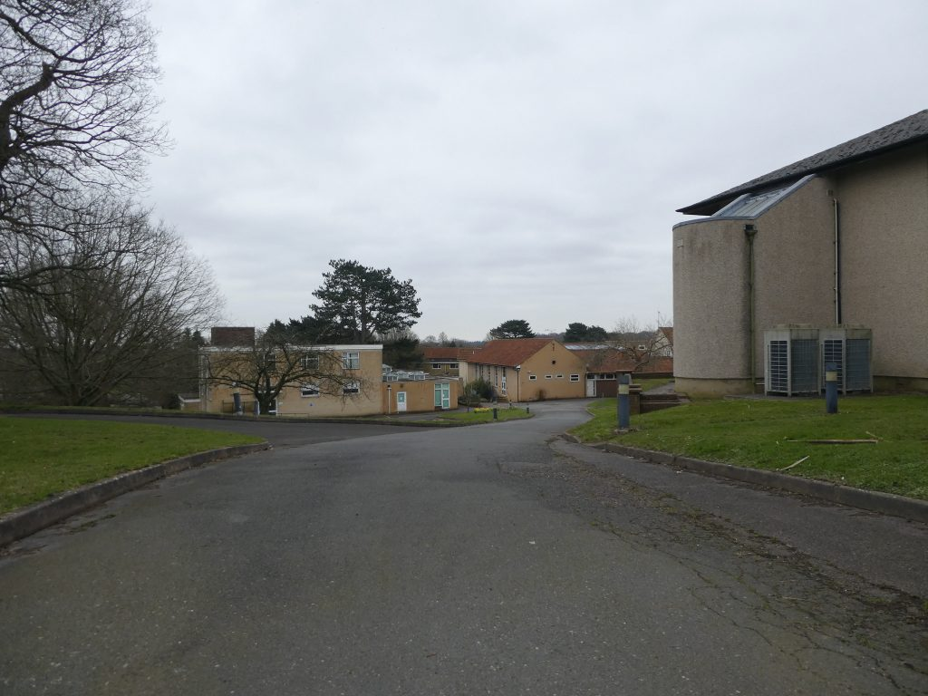 Image of brownfield site at Benenden Hospital allocated for building